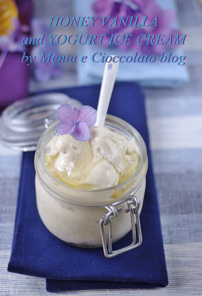 Menta e Cioccolato: Honey Vanilla and Yogurt Ice Cream - Un gelato naturale!