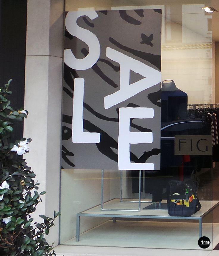 Retail SALE decal, SALE sticker, FIG Boutique, Shop Window Decal