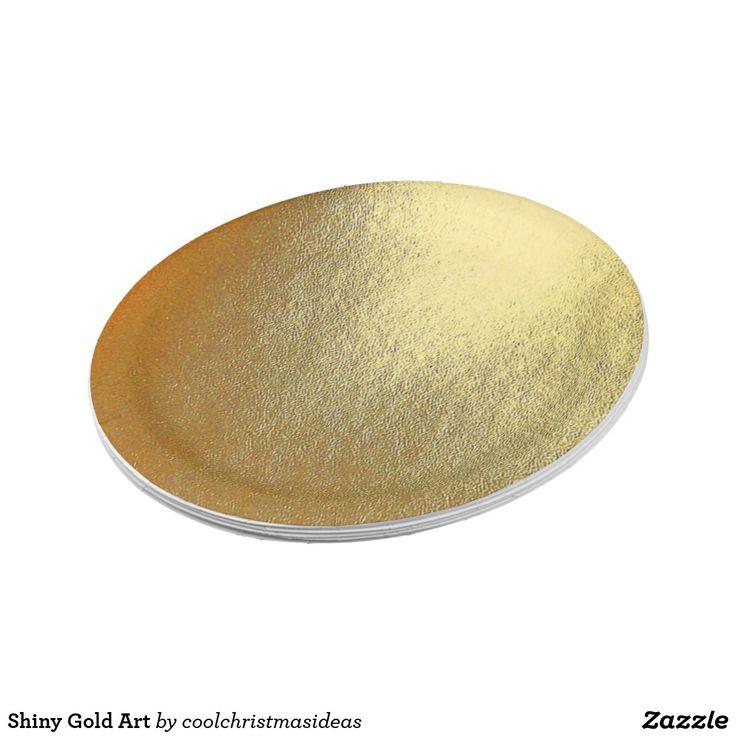 Shiny Gold Art Paper Plate