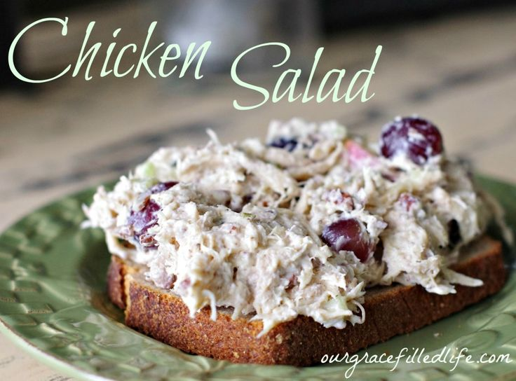 Chicken Salad !!!!! http://@Hannah Kaufman Velarde is this like the one your mom made for your baby shower?!?! I seriously want that recipe!!!!!!