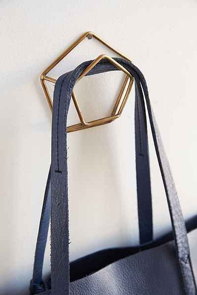 Geo Pentagon Wall Hook - Urban Outfitters