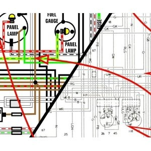 1968 1972 jaguar xj6 11 quot  x 17 quot  color wiring diagrams