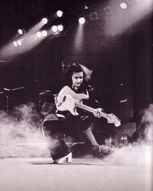 Ritchie Blackmore .... Deep Purple (look at those platform shoes)