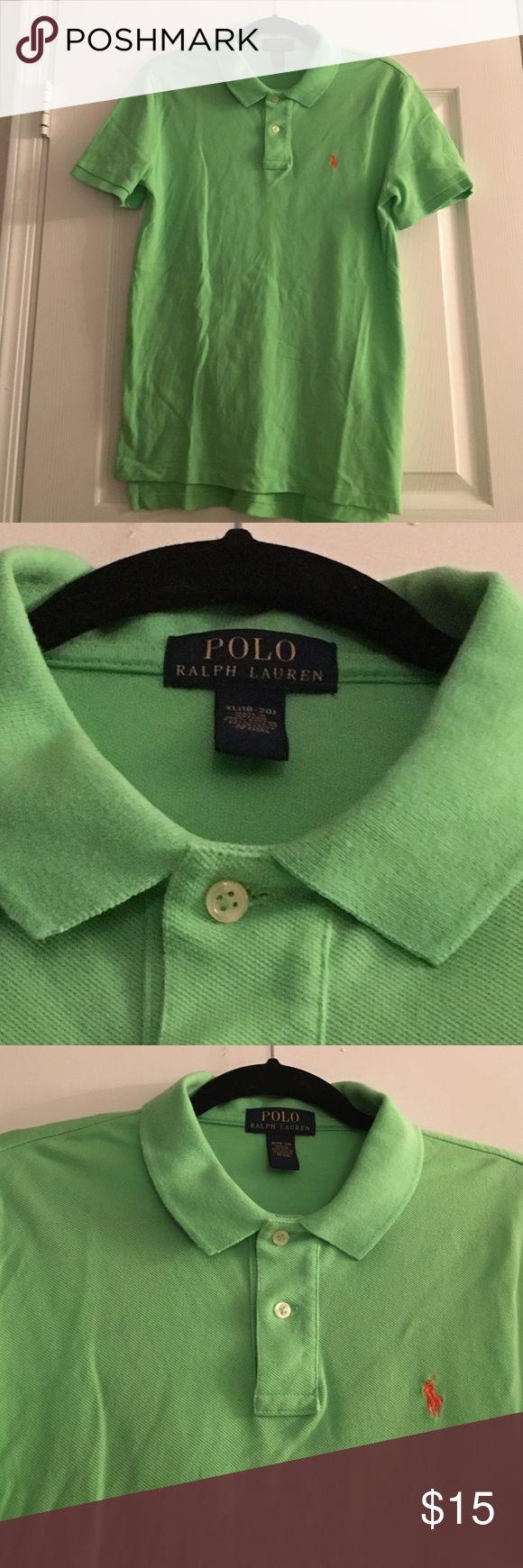 Lime green Ralph Lauren Polo Shirt Lime green polo with orange logo Polo by Ralph Lauren Shirts & Tops Polos