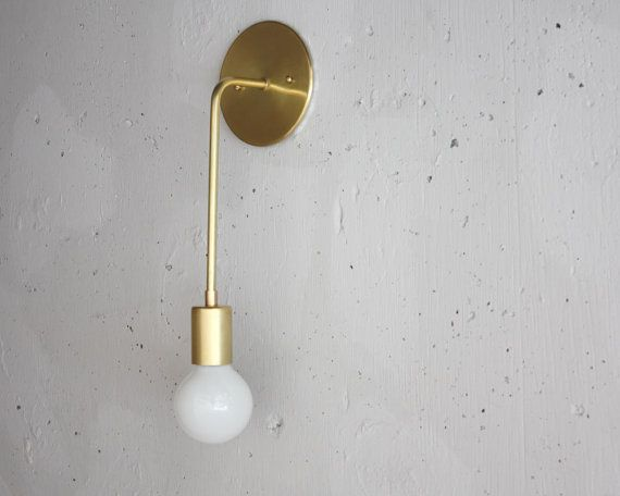 Evelyn. Wall Sconce. Solid brass modern by RoughLuckStudio