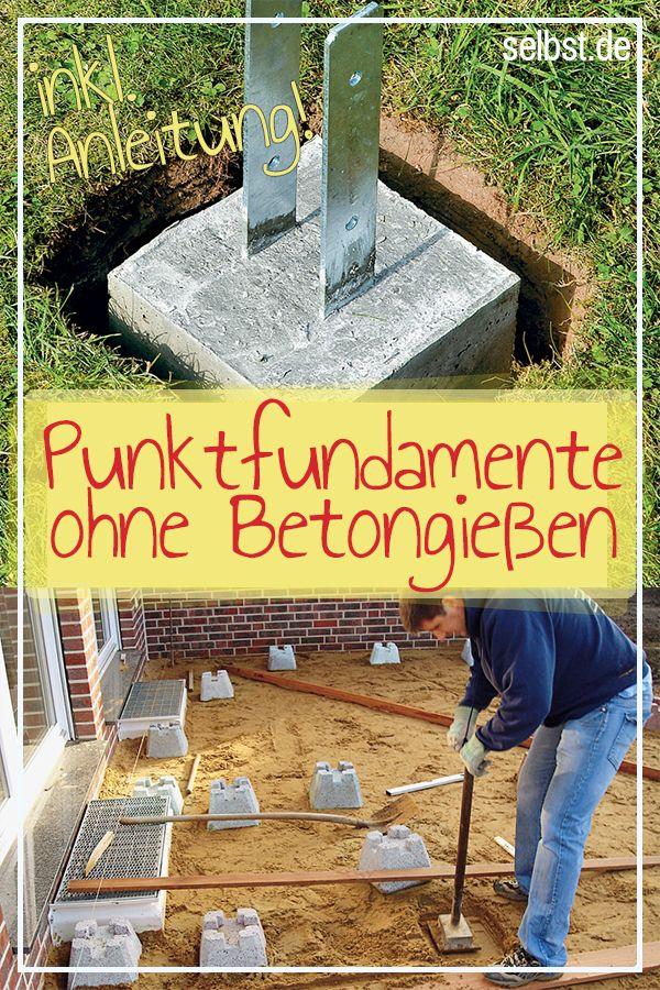 Grundwissen Fundamente Selbst De Fundamentsteine Fundament Gartenhaus Fundament