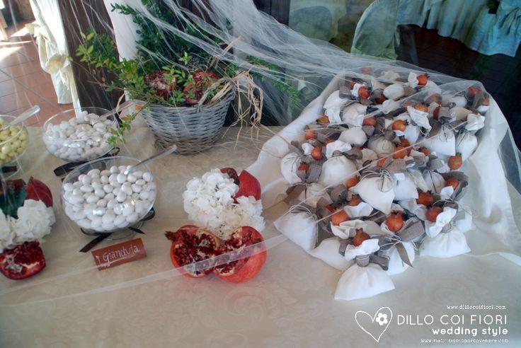 confettata e bomboniere in tema