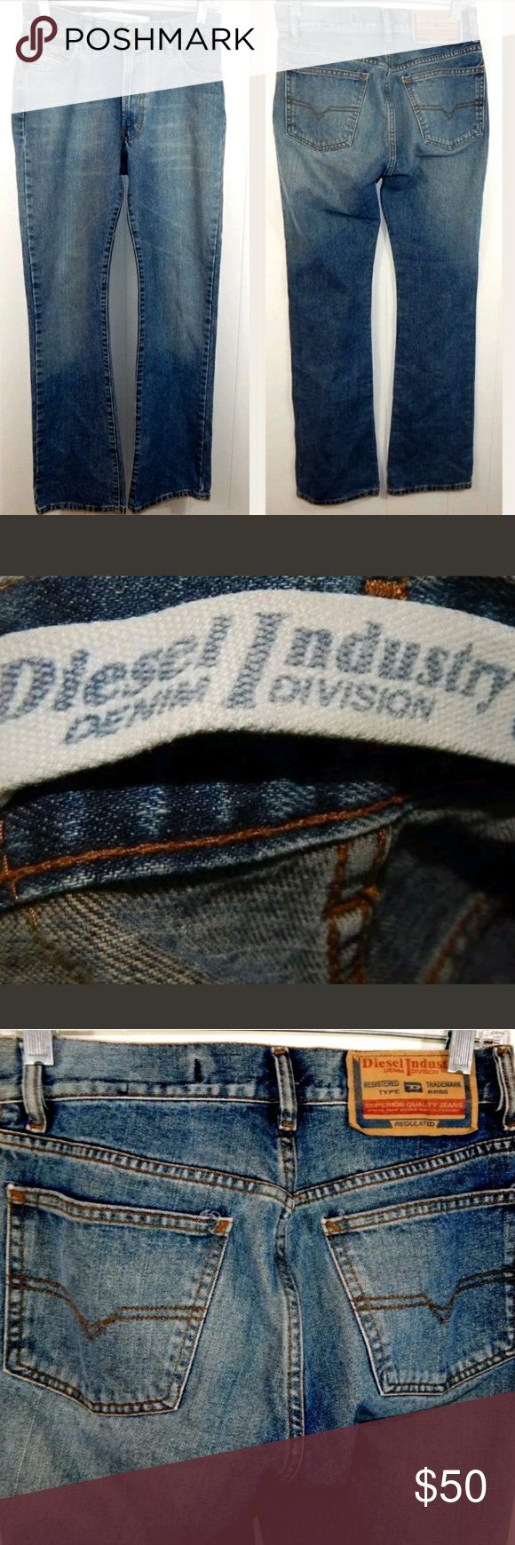 "Diesel Boot Cut Medium Wash Jeans Women's boot cut jeans by Diesel. Medium wash with whiskering. Size 27/4, 29"" waist, 9.5"" rise, and 32"" inseam. 100% cotton. Gently loved in great condition. No trades. Diesel Jeans Boot Cut"
