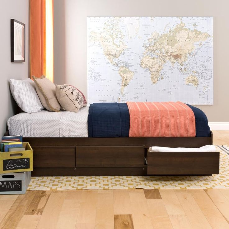 Espresso Twin Mate's Platform Storage Bed with 3 Drawers – Wholesale Furniture Brokers