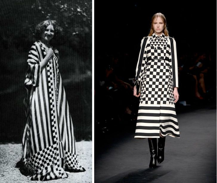 Valentino Fall/ Winter 2015 show in March  and Emilie Flöge-inspired designs. Emilie Floge was a coutuerier with a bohemian flair in Vienna at the turn of the 20th century. She was also the lifelong companion and collaborator of Gustav Klimt. her designs are worn by subjects of his paintings.