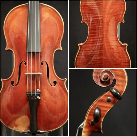 A bright, powerful 1880 violin crafted by violinmaker Paul Blanchard is available for examination and trial. #violin #violinmaker #PaulBlanchard #BenningViolins