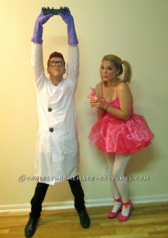 cute and easy dexter and dee dee couple cartoon costume - Cute Ideas For Halloween