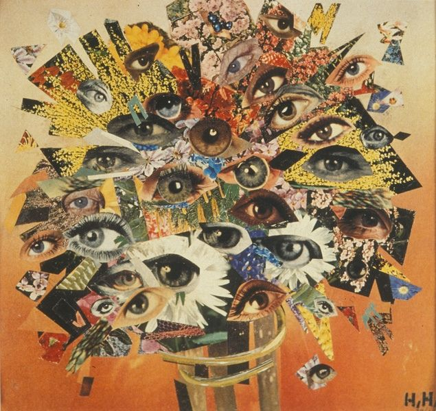 Hannah Hoch - I like how the photographer has used eyes to create a flower effect this photo is successful because of the light and color used in the image.