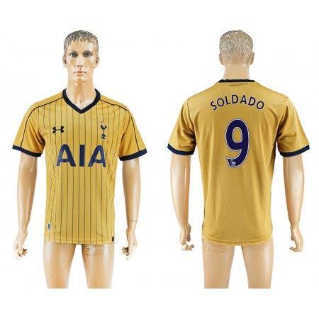 Tottenham Hotspurs 16-17 #Soldado 9 3 trøje Kort ærmer,208,58KR,shirtshopservice@gmail.com