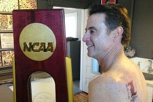 Rick Pitino keeps promise and gets inked.