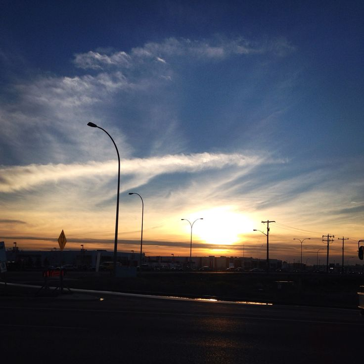 Sunset driving home, love it, never tire of these pictures, Edmonton Alberta