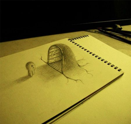 3d+drawings+on+paper | 3D Drawings