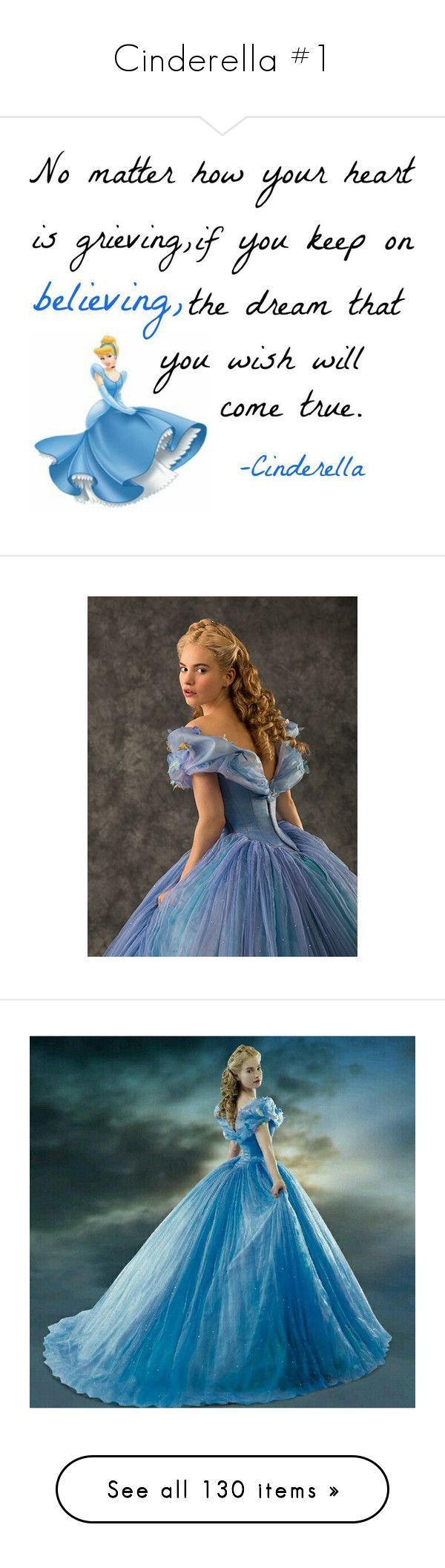 """Cinderella #1"" by whitewitchbitxh ❤ liked on Polyvore featuring disney, cinderella, quotes, words, phrase, saying, text, beauty products, makeup and eye makeup"