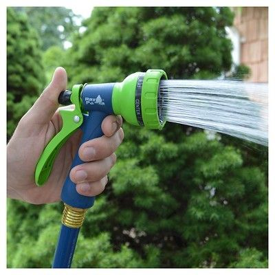 Ray Padula FloControl50 - Heavy Duty 5/8 in. x 50 ft. Hose with Built-in Flow Control, Blue