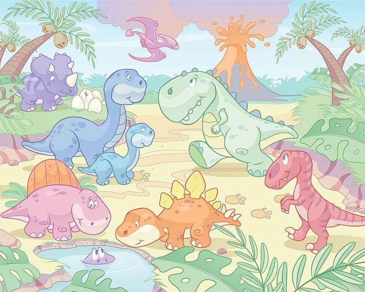 Fancy Walltastic Fototapete D Wandbild Baby Dinosaurier Dino World