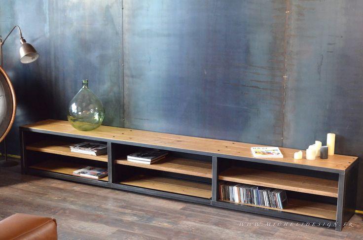 9 best meuble images on Pinterest Industrial furniture, Industrial - roulette de porte de placard