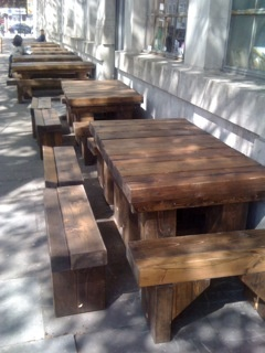 chunky outside benches @Barti