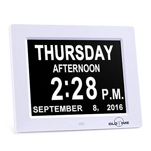 "5 Alarm Options - 8"" Digital Calendar Alarm Day Clock with Extra Large Non-Abbreviated Day & Month, Alzheimer's and Memory Loss Clock - Perfect for Mom Dad And Seniors,Reminders To Take Medications #Alarm #Options #Digital #Calendar #Clock #with #Extra #Large #Abbreviated #Month, #Alzheimer's #Memory #Loss #Perfect #Seniors,Reminders #Take #Medications"