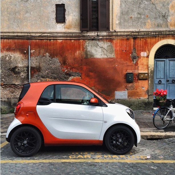"""No wonder we call it """"Lava Orange"""" — our all-new fortwo is hot. Regram @smart_worldwide"""