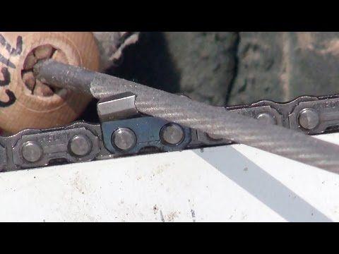 Sharpen a Chainsaw Chain - Tool Tip #10 Making Sawdust? How to hand sharpen a chainsaw chain - YouTube