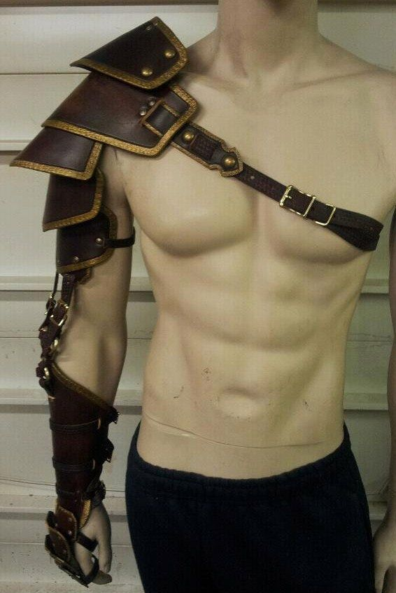 Leather Armor Custom Crafted Full Arm by SharpMountainLeather on Etsy https://www.etsy.com/listing/111393056/leather-armor-custom-crafted-full-arm