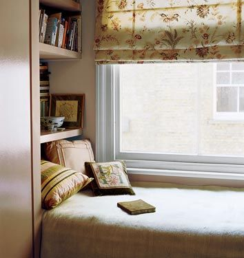 sunny windows + reading nook = the perfect afternoon spot.