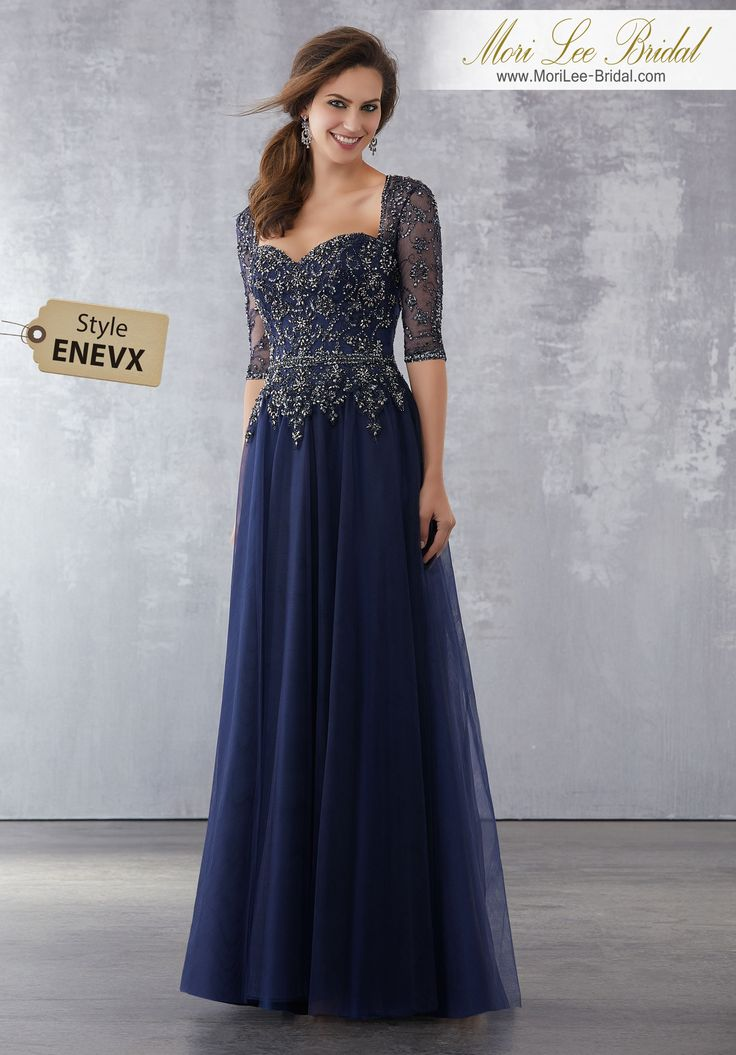 Style ENEVX  Net Social Occasion Dress With Gunmetal Beading  Gunmetal Beading on Net. Colors Available: Gunmetal/Nude, Gunmetal/Navy