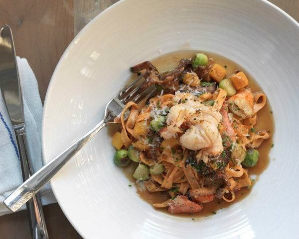 Lobster Roe Noodles with Braised Short Rib