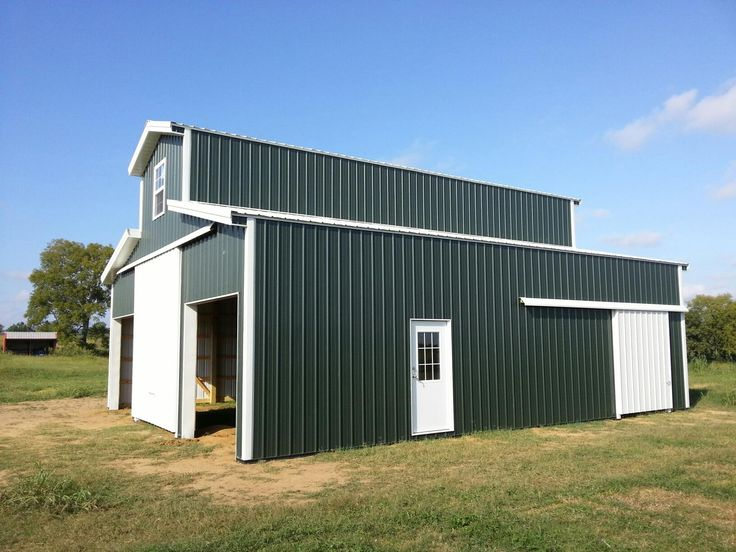 12x40x20 with (2) 11x40 Sheds - Pole Barn www.nationalbarn.com