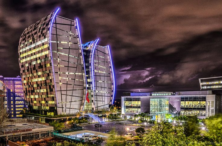 Norton Rose with lightning by alexiusvanderwesthuizen
