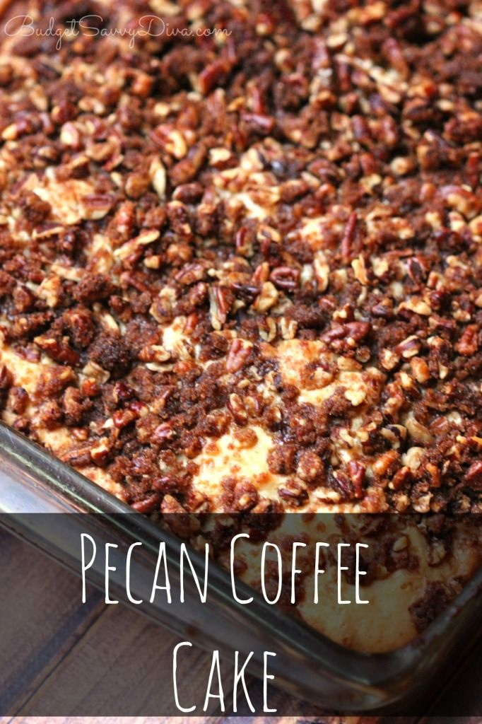 BEST COFFEE CAKE EVER! Anyone can make this recipe ! My whole family ate the cake in ONE sitting -Pecan Coffee Cake Recipe - Love This Recipe