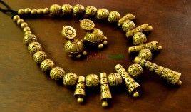 Terracotta antique gold grandeur set