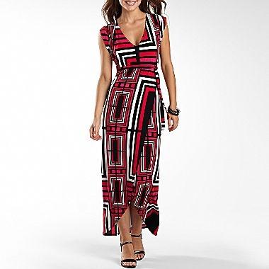 Worthington 174 Print Hi Low Hem Maxi Dress Jcpenney