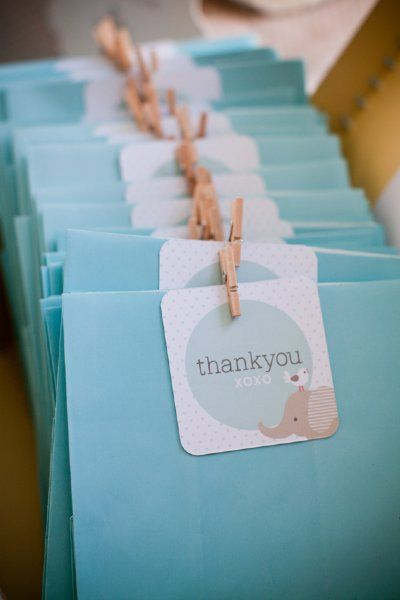 Baby Elephant favor tags by Style Me Gorgeous