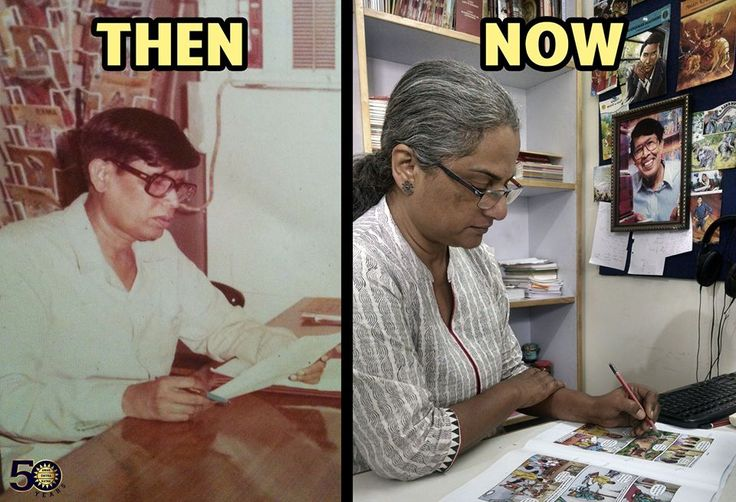 Amar Chitra Katha, editors then and now....Anant Pai and Reena Puri #comics #education #graphicnovels #magazines #india #ACK
