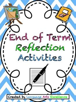 Awesome end of term reflection activity for ELA.  Self-reflection is so important for students of all ages and what better time to reflect on learning than at the end of each term?  With that in mind, I created this end of term reflection assignment that prompts students to consider all of the meaningful experiences they had for the quarter in my class. My students really get into this assignment and I'm sure yours will too!  TPT