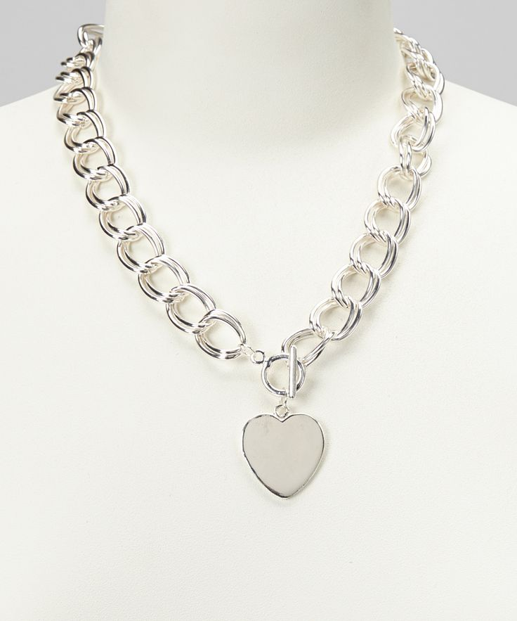 Silver Heart Charm Necklace   Daily deals for moms, babies and kids