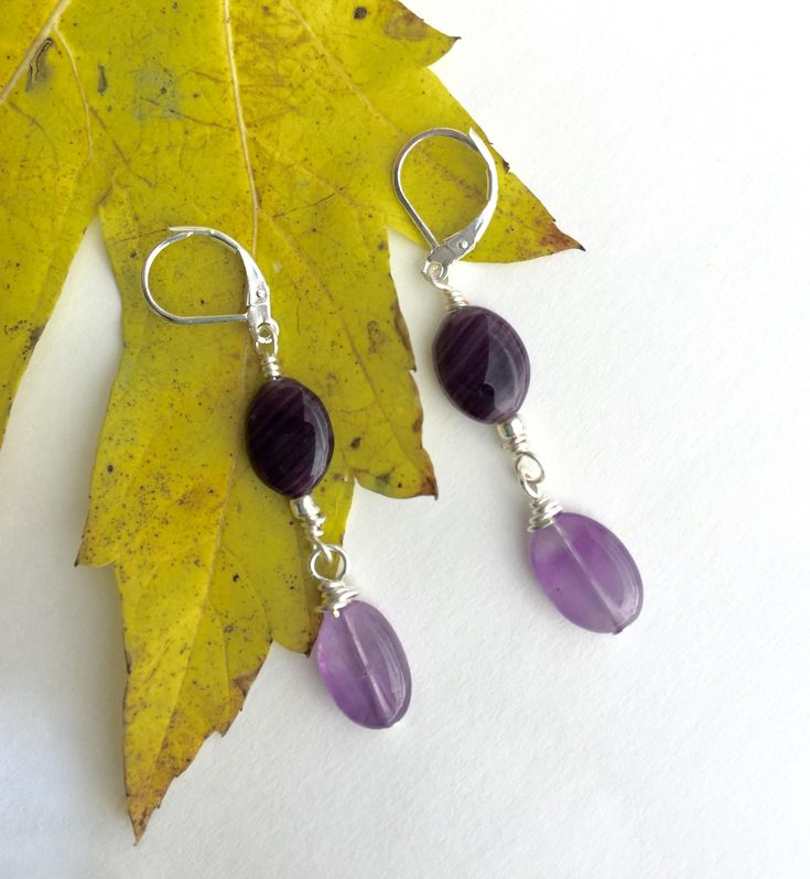 Amethyst Earrings, https://www.etsy.com/listing/553909792/amethyst-earrings-purple-earrings-lever?utm_campaign=crowdfire&utm_content=crowdfire&utm_medium=social&utm_source=pinterest
