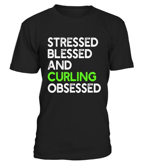 """# Stressed Blessed And Curling Obsessed - Funny Sport T-shirt . Special Offer, not available in shops Comes in a variety of styles and colours Buy yours now before it is too late! Secured payment via Visa / Mastercard / Amex / PayPal How to place an order Choose the model from the drop-down menu Click on """"Buy it now"""" Choose the size and the quantity Add your delivery address and bank details And that's it! Tags: Stressed Blessed And Curling Obsessed - Funny Sport T-shirt, Great gift for…"""