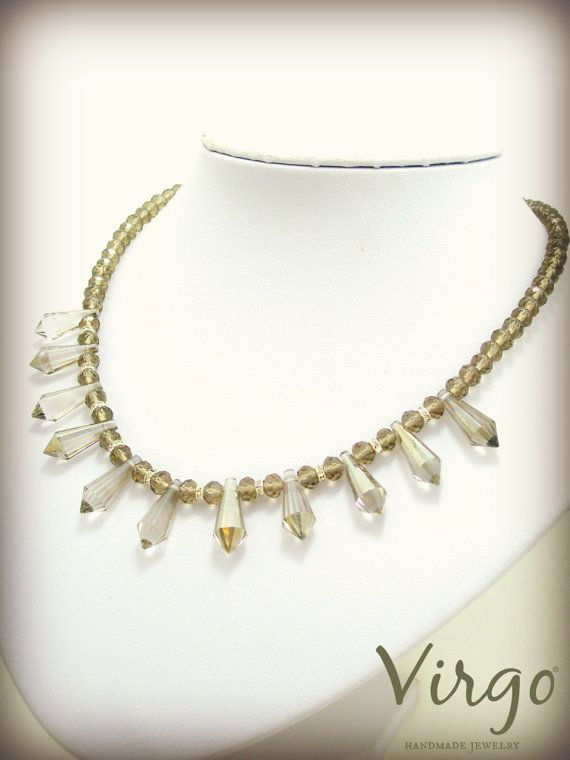 Handmade Crystal Bead Crystal Elements and Swarovski Crystals Necklace.  Size: approx. 42cm  We can resize for you, all of our jewelries, so feel free to ask!  Τhe necklace comes in a gift box!  Do you like this item? See more at: https://www.etsy.com/shop/VirgoHandmadeJewelry  Like us on Facebook:  https://www.facebook.com/VirgoHandmadeJewelry  or   follow us on Pinterest: www.pinterest.com/VirgoJewelry   Thanks for stopping by - Virginia