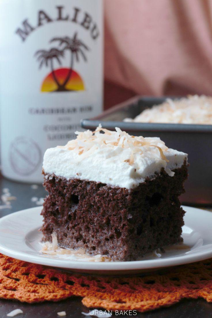Chocolate Coconut Malibu Rum Cake   URBAN BAKES