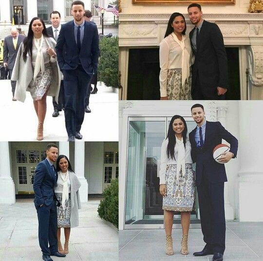 Like what you see⁉ Follow me on Pinterest ✨: @joyceejoseph ~ Ayesha Curry and Stephen Curry at the White House