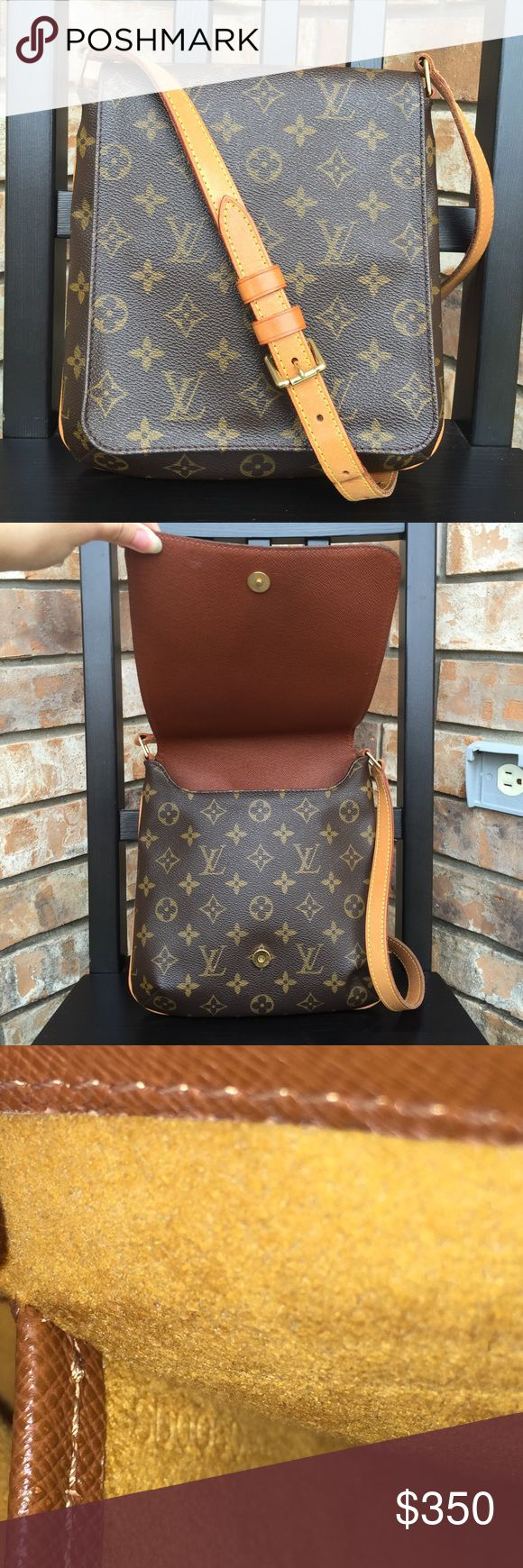 Louis Vuitton Musette Salsa Authentic. Date code SD0060. Used. Canvas in great condition, no faded spot/rip/tear. There is normal wear on strap (just the mark, not tear/rip). Its a shoulder bag for aldult, but can be used as crossbody for kid. Why pay so much for tiny Mini Speedy when you can buy this one for your kids? It has more space that they can actually use it (some small books, nintendo 3DS, couple hotwheels or shopkins). The last pic shows how to use it as crossbody for kid (not my…