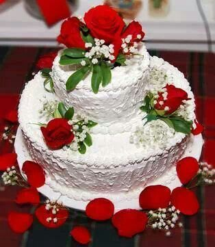 Rose Day Cake Images : Red rose birthday cake... PARTIES FAVORITES Pinterest ...