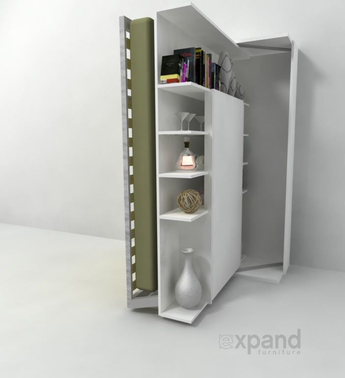 Revolving BookCase Italian Wall Bed | Expand Furniture